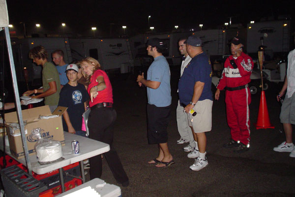Catering for NASCAR Safety Crew at California Speedway